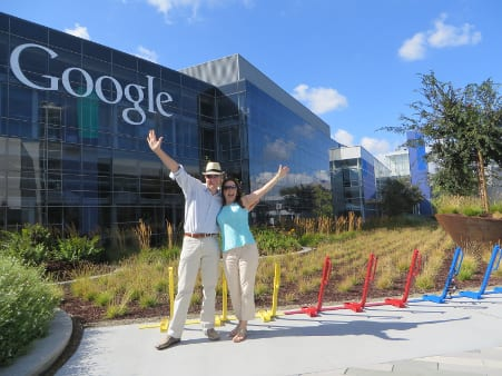 matt and liz raad at googleplex